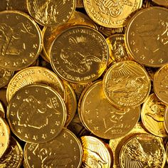 Madelaine Milk Chocolate Gold Coins Kosher Just Candy makes every occasion sweeter with bulk candy, candy buffets and party favors Chocolate Gold Coins, Chocolate Stars, Bulk Chocolate, Chocolate Factory, Gold Candy Buffet, Gold Money, Bulk Candy, Candy Favors, Gold Aesthetic