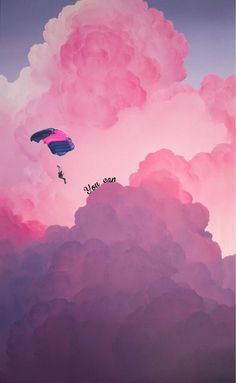 Photo by Photo by # - Hippie Painting, Sky Painting, Painting Wallpaper, Pink Clouds Wallpaper, Kawaii Wallpaper, Baby Animal Drawings, Cloud Illustration, Cloud Drawing, Cartoon Clouds