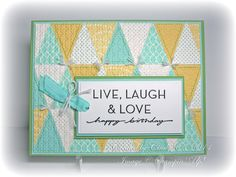 Stampin' Up! ... handmade card ... pennant builder quilt card  from Heart's Delight Cards ...