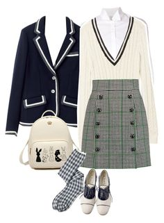 """""""Untitled #951"""" by clothes-wise ❤ liked on Polyvore featuring Rosie Assoulin, Brooks, Balmain and Dolce&Gabbana"""
