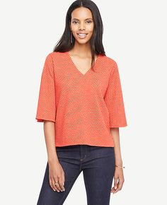 Shop Ann Taylor for effortless style and everyday elegance. Our Dot Crepe Flounce Sleeve Top is the perfect piece to add to your closet.