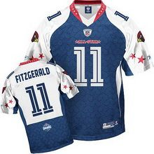 ... stitched nfl elite 87be2 b3779  amazon larry fitzgerald jersey nfc 11  arizona cardinals authentic 2009 pro bowl jersey in blue 45e24 6c835dd81
