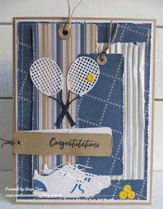 Anja Zom kaartenblog: kaartjes voor sportievelingen Birthday Cards For Boys, Masculine Birthday Cards, Handmade Birthday Cards, Masculine Cards, Boy Birthday, Happy Birthday, Marianne Design Cards, Bridal Shower Favors, Congratulations