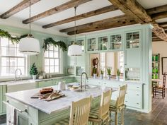 This farmhouse kitchen has a secret: It's only two years old! Here's how to serve up old-fashioned character in a brand-new space.