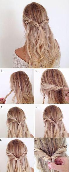 Festliche Frisur Anleitung Wedding Pinterest Hair Style