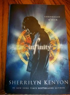 """Teen Book Club. Read """"Infinity"""" by Sherrilyn Kenyon, write a review and email review to dawnsnider@macaronikid.com before 7/5/12. Could win iTunes gift card or 2nd book in series """"Invincible""""."""
