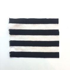 St. John Knit Blend Stripe Black and White knit