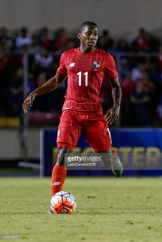 Armando Cooper of Panama drives the ball during the match between Cuba and Panama as part of the Copa America Centenario Qualifiers at Rommel Fernandez Stadium on January 08, 2016 in Panama City, Panama.