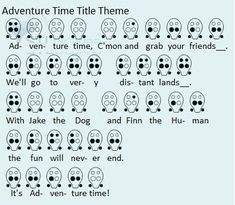 Adventure Time Title Theme 6 hole photo: 6 hole ocarina tabs for the title theme to AdventureTime This photo was uploaded by picklethewickle