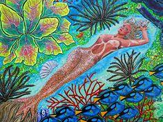 Mermaid, acrylic and sand mix on canvas.     website: http://debbie-chamberlin.artistwebsites.com/