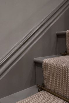 It may be small and narrow, but that doesn't mean your stairway can't get the same decorating treatment as the rest of your house. These staircase decorating ideas will give your entryway a step up. Find and save ideas about Painted stairs Painted Staircases, Painted Stairs, Hallway Inspiration, Decoration Inspiration, Design Inspiration, Design Ideas, Stairway Decorating, Decorating Ideas, Stairway Paint Ideas