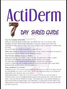 7 day shred  https://acti-labs.com/me/monica-march