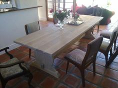 Tables To Order is a private company specializing in making Custom Made Solid Wood Tables. Cape Town South Africa, Solid Wood Table, Wooden Furniture, Solid Oak, Tables, Dining Table, Home Decor, Style, Timber Furniture