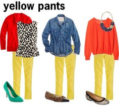 yellow pants - Do you think I could rock these?