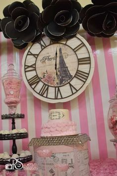 Pretty Paris birthday party! See more party ideas at CatchMyParty.com!
