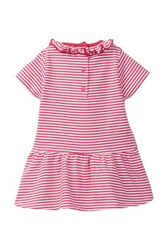 Striped Dress with Banner Applique (Baby Girls) by Lilly + Sid on @nordstrom_rack