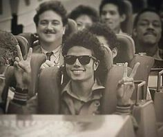 MJ on a roller coaster - one of his favorite pastimes.