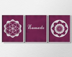 Namaste Print Yoga Print 3 Piece Print Set by LotusLeafCreations, $26.00
