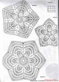 Crochet Motif Patterns, Crochet Mandala, Crochet Diagram, Crochet Chart, Crochet Squares, Thread Crochet, Filet Crochet, Crochet Doilies, Crochet Flowers
