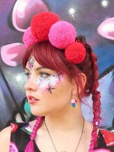 Glamorous Handmade Masquerade, Jewelries & Accessories by Glamorousgala Unicorn Princess, Face Jewellery, Face Jewels, Diamond Face, Face Stickers, Jewelry Accessories, Unique Jewelry, Rave Outfits, Hair Inspo