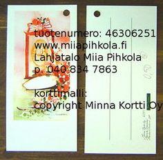 Minna Immonen gift card: for graduated / Minna Immosen pakettikortti ylioppilaalle Cards, Playing Cards, Maps