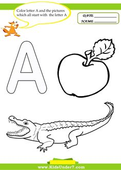 1000+ images about Letter A Worksheets on Pinterest | Worksheets ...