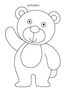 Teddy Bear Coloring Pages, Coloring Pages For Kids, Doodle Art Drawing, Baby Drawing, Simple Embroidery, Embroidery Patterns, Basic Drawing For Kids, Birthday Calender, Bear Clipart