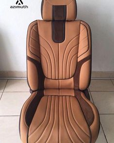 Awesome seat cover design by / Custom Car Interior, Car Interior Design, Truck Interior, Automotive Design, Interior Trim, Car Interior Upholstery, Automotive Upholstery, Passat B4, Leather Car Seat Covers