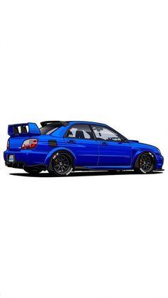 Tuner Cars, Jdm Cars, Japanese Sports Cars, Subaru Cars, Car Illustration, Japan Cars, Car Drawings, Automotive Art, Car Painting