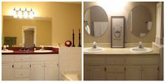 Our Suburban Cottage: Yes You CAN Paint Those Ugly Laminate Countertops