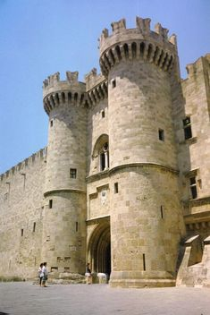 Rhodes island Knights Templar castle, Greece