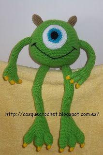 cosquecrochet: mike wazowski crochet