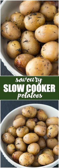Savoury Slow Cooker Potatoes