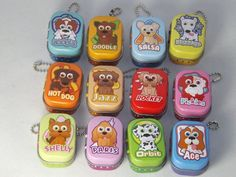 Puppy Palz Club Lucky Charm toy figures, with it own keychain tin, 12 to collect #PuppyClub
