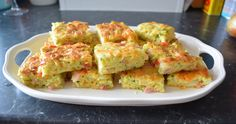 A simple lunch or party idea that is is delicious. Zucchini Slice, Quiche Lorraine, Guacamole, Prosciutto, Eat, Cooking, Breakfast, Ethnic Recipes, Lunch Ideas