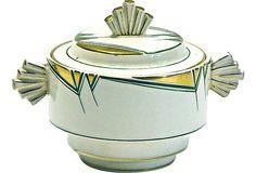 Art Deco Bone China Lidded Bowl on OneKingsLane.com