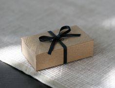 Elegant kraft matchbox.