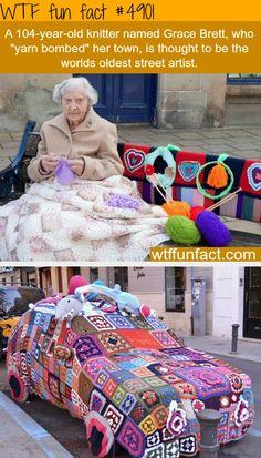 ﴾͡๏̯͡๏﴿ Its a Fact © Grace Brett 104 year old street artist - yeah! Very impressive - good job Grace || Me when I'm older