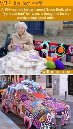 ﴾͡๏̯͡๏﴿ Its a Fact © Grace Brett 104 year old street artist - yeah! Very impressive - good job Grace