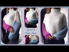 Yeni Trend Hem Basit Hem Şık Selanik Kazak Yapımı / Knit Sweater - YouTube Turtle Neck, Youtube, Knitting, Sweaters, Fashion, Moda, Tricot, Fashion Styles, Stricken