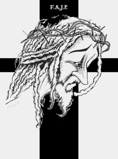 Rasta Dreads Jesús Cristo desing draw