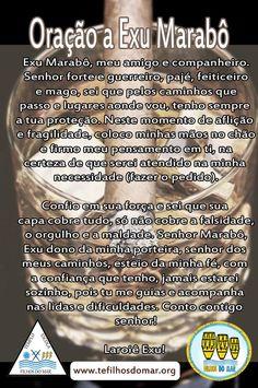 Oração a Exu Marabô #Curimba #Atabaque #EscoladeCurimba LAROYE EXU MARABO http://www.tefilhosdomar.org Link permanente da imagem incorporada