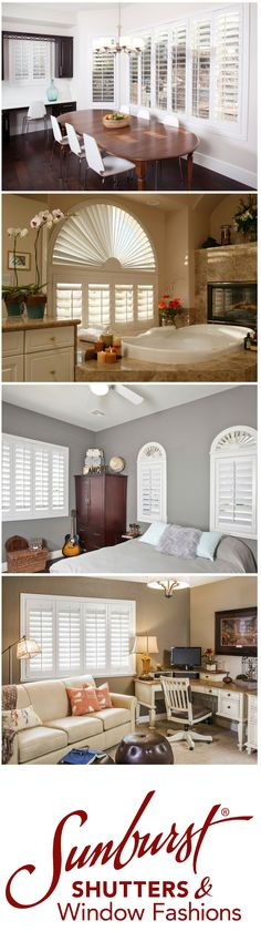 Polywood shutters can give a finished look to your kitchen, living room, bedroom, or even bathroom.   They have a unique, but sophisticated design that works with a variety of styles and color schemes. These shutters let you control the light you let in, and they're waterproof too!