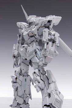 MG Unicorn Gundam Unit 3 Lock Ver. by Redbrick Wow. a pretty awesome custom build idea! Modeled by Redbrick . Zbrush, Gundam Mobile Suit, Arte Robot, Unicorn Gundam, Gundam Custom Build, Gundam Art, Gundam Wing, Manga Anime, Gunpla Custom