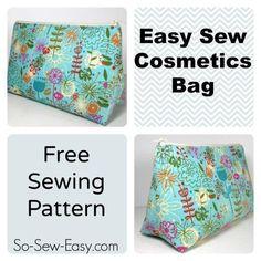 Easy Cosmetics Bag | Craftsy