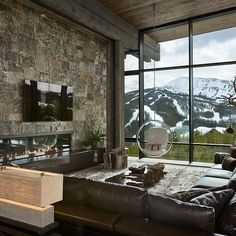 Lower Foxtail #Chalet by Reid Smith Achitects & Teton Heritage Builders by design_interior_homes