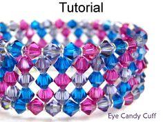 Free Crystal Cuff Memory Wire Bracelet PDF Beading Pattern | Simple Bead Patterns