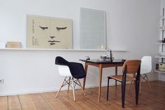 #modern white  #dining_room with #art_wall_shelf