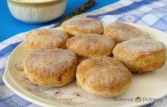 Proziaki – podkarpackie placki na sodzie • Domowe Potrawy Happy Foods, Sweet Recipes, Muffin, Food And Drink, Bread, Breakfast, Evergreen, Polish, Pies