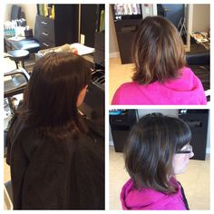 Ombré for short hair too! Senior Stylist Jesslyn MacDonald gave Abby this great short hair cut and ombré.